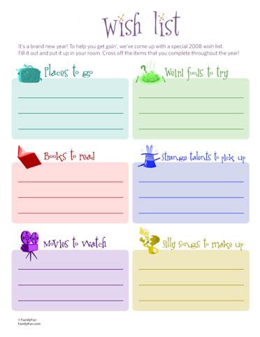 Wish Lists.